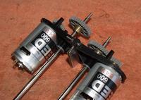 Name: res053.jpg Views: 82 Size: 119.5 KB Description: Some metal folded over shimmed the motors.
