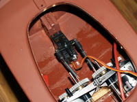 Name: res072.jpg Views: 86 Size: 96.8 KB Description: After mounting and securing the motors I installed the steering servo and hooked up a pull-pull cable system.