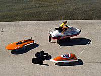 Name: res009.jpg Views: 89 Size: 111.2 KB Description: Mark's Waverunner and mini-hydro. Vic's Reef Racer.