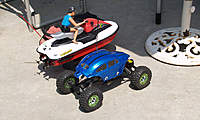 Name: res004.jpg Views: 76 Size: 81.9 KB Description: Rich's jet ski and rock crawler with new Bug body.