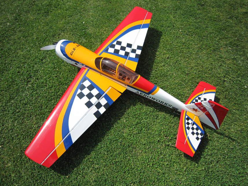 "Name: 72Yak54.jpg Views: 112 Size: 139.2 KB Description: Aeroworks 72"" Yak 54 w/ DLE 30"