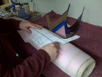 Name: IMG00089.jpg Views: 282 Size: 75.6 KB Description: setting cutting points on the fuselage