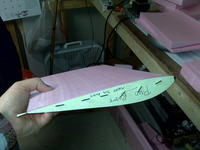 Name: IMG00110.jpg Views: 284 Size: 67.8 KB Description: another pic showing the wing section cut but with the templates still pinned in place.