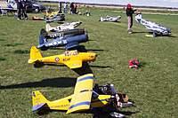 Name: gimli_flightline1_w.jpg Views: 95 Size: 128.0 KB Description: A view down the flightline ... love the Yak.