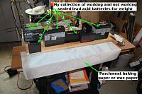 Name: FFF-GG_02.jpg Views: 9 Size: 76.8 KB Description: Weighted down and setting up, parchment keeps things from sticking to board by accident