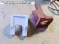 Name: 06_spacers_01.jpg Views: 61 Size: 328.0 KB Description: Frame plate spacers cut from the ends of broken arms and sanded smooth