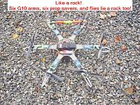 Name: 01_Hex-X_Like a rock.jpg Views: 39 Size: 173.1 KB Description: iFlight iQ550 kit hex with arms replaced with G10 arms