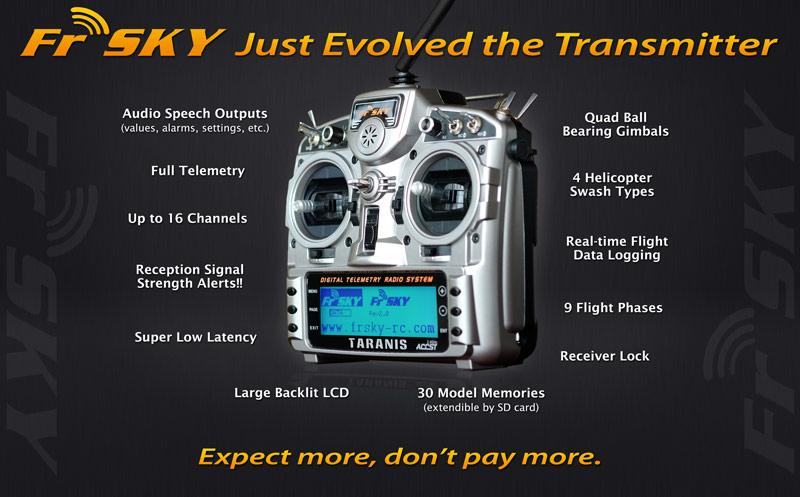 FrSky Taranis - 16 Channels, Full Telemetry, RSSI - RC Groups