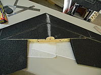Name: DSCN2090.jpg Views: 56 Size: 200.2 KB Description: Motor mount epoxied to the lay spar, two screws, and two CF rods.