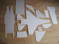 Name: DSCF3063.jpg Views: 395 Size: 45.7 KB Description: Depron sheet-cuts into the parts...
