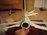 Name: DSCF3325.jpg Views: 196 Size: 64.0 KB Description: Looks right...I took advantage of a sticking tape to align and simultaneously press the Rudder...