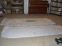 Name: B-25 P-63.jpg Views: 180 Size: 13.3 KB Description: That is a P-63 Cobra on the plans for scale comparison. The P-63 has a wing span of 48 inches.