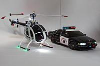 Name: cb100chp76.jpg Views: 65 Size: 185.5 KB Description: My CB100 MD500E CHP helicopter with my Kyosho Mini-Z CHP car.