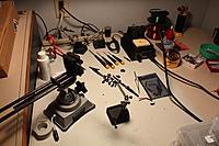 Name: Soldering Bench.jpg Views: 94 Size: 89.6 KB Description: My rather messy soldering bench.