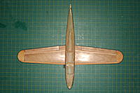 Name: Mini-Macchi_324.jpg Views: 75 Size: 300.3 KB Description: Get the wing centered and perpendicular. Those grid lines sure make it easy. But you can use rulers to measure and get it all square.