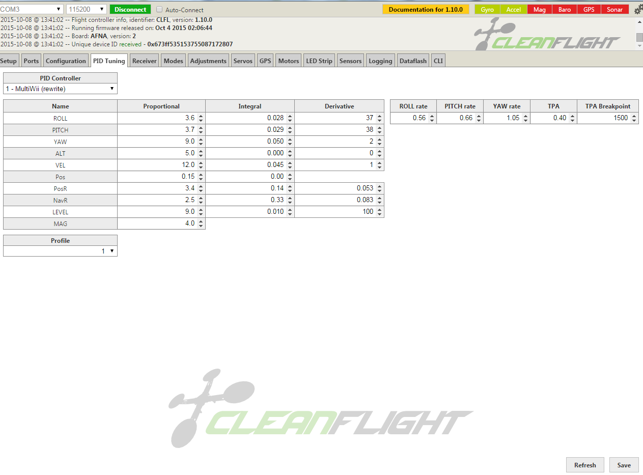 Attachment browser: PIDs on X frame Betaflight V2 4th Oct