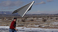 Name: 4-Tude hand launch 2.jpg Views: 302 Size: 155.5 KB Description: Russ tosses like a paper airplane for the first glide test.