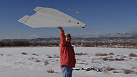 """Name: Pat and 4-Tude 2.jpg Views: 139 Size: 138.1 KB Description: Pat's """"paper airplane"""" glider is pretty amazing."""