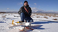 Name: Russ and Katana on skis.jpg Views: 76 Size: 171.8 KB Description: Russ outfitted his PA Katana with skis for the day.