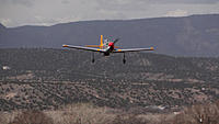 Name: DSC04283.jpg Views: 65 Size: 165.5 KB Description: Ray brings his P-51 in for a touchdown.