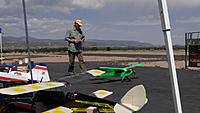 Name: DSC05818.jpg Views: 40 Size: 255.0 KB Description: Rob didn't give up after the Extra crash. He taxis out the Telemaster 40