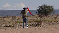 Name: DSC06289.jpg Views: 46 Size: 296.0 KB Description: Pat puts up the wind attracting directional sock.