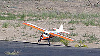 Name: DSC07963.jpg Views: 46 Size: 159.7 KB Description: Art makes a perfect one point landing using our 30 foot long crosswind runway.