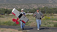 Name: DSC07915.jpg Views: 42 Size: 147.7 KB Description: Pat (right) does a little victory jig while Jack brings the SlowPoke back to the pits.