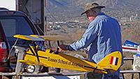 Name: DSC08899.jpg Views: 39 Size: 151.3 KB Description: Pat gets his Tiger Moth readied.