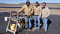 Name: DSC09930.jpg Views: 72 Size: 138.9 KB Description: The three brave souls to put a plane up in the 15 kt winds were (from left) Art, Marc and Tony.