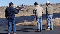 Name: DSC09877.jpg Views: 63 Size: 136.0 KB Description: RayM waits in the hand launch position while Tony adjusts his radio and Juan (right) provides spotting duties.