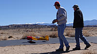 Name: DSC01250.jpg Views: 46 Size: 257.6 KB Description: Ray (left) taxis out the Sukhoi with his spotter Ross.