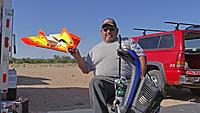 Name: DSC02985.jpg Views: 33 Size: 560.1 KB Description: Ruben shows off his Hog Wild combat plane.