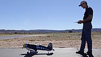 Name: DSC03920.jpg Views: 45 Size: 230.6 KB Description: Buck taxis out the Corsair.