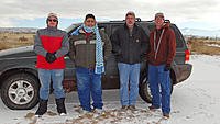Name: DSC07247.jpg Views: 67 Size: 162.1 KB Description: From left, Mark, Ruben, Ross and Marc. This was the second group of pilots at the field. Ray, Ray2 and John got first tracks at the field and went back to La Cocina for breakfast. The two groups missed each other. Photo credit: Sylvia
