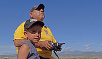 Name: DSC00893.jpg Views: 40 Size: 109.4 KB Description: Ruben flies while grandson T.J. keeps a close eye on the photographer.
