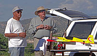 Name: DSC00894.jpg Views: 37 Size: 173.2 KB Description: Art (left) and Gary check out the flight action.