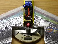 Weight RTF with a 1350mah, 3-cell lipo is now 371 grams.
