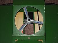 Name: DSCN8887_Hovercraft airflow redirected.jpg Views: 15 Size: 250.2 KB Description: Lite plywood pieces added to redirect 2/3 of airflow out the back generating forward thrust.
