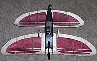 Name: S-Pou_3a.jpg Views: 50 Size: 127.6 KB Description: As built with unpainted bottom of wing, and simple foam wheels.  I do much better now with the details!
