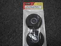 """Name: 2011-10-04 11.10.38.jpg Views: 119 Size: 95.0 KB Description: Dubro 3"""" super light wheels, pair, NEW $8 shipped in the US"""