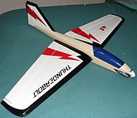 Name: 21Thunderbolt Finished1.JPG Views: 27 Size: 302.4 KB Description: A lick of paint to highlight the canopy, and all ready for flight.