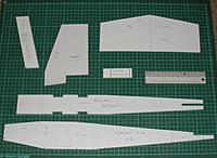 Name: TD Templates 1.JPG Views: 24 Size: 425.5 KB Description: Made templates for these bits - the rest are mostly rectangular and just as easy to mark out and cut direct on the foam. Template material is foam board with sticky surface on one side,  from craft shop.