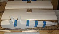 Name: TD07 Fuselage.JPG Views: 24 Size: 296.1 KB Description: Fuselage top deck glued on; wing LEs sanded to KF section.