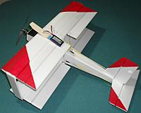 Name: TD21 BattMount.JPG Views: 16 Size: 407.2 KB Description: The battery on its balsa carrier strip and roughly where it finishes up when installed - velcro furry bit on the other side at the forward end mates to hooky bits up front in the fuselage.