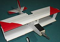 Name: TD22 Finished.JPG Views: 10 Size: 353.3 KB Description: Rough paint job for orientation - underside has blue tape stripes fore and aft.