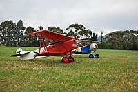 Name: otago flying 001.jpg Views: 111 Size: 83.7 KB Description: My greatplanes Fokker DVII and a friends Neuiport.