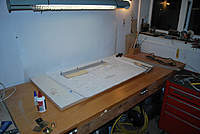 Name: udet flamingo build 016 copy.jpg Views: 91 Size: 64.0 KB Description: My work area, my new build board is 1200mm x 600mm.