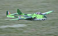 Name: DSC_6075.jpeg Views: 37 Size: 122.6 KB Description: Durafly D.H.Vampire EDF jet from HobbyKing with a custom paint job.