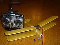 "Name: dumas tiger moth1.jpg Views: 480 Size: 44.6 KB Description: 17"" span, 32 grams flying weight"